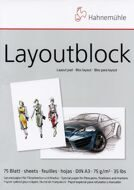 "Склейка для маркеров ""Layoutblock"",  А4, 75 листов, 75 г/м, Hahnemuhle"